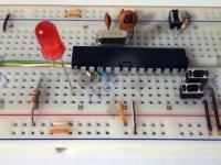 03 - ATmega8 + PWM + dioda - 02